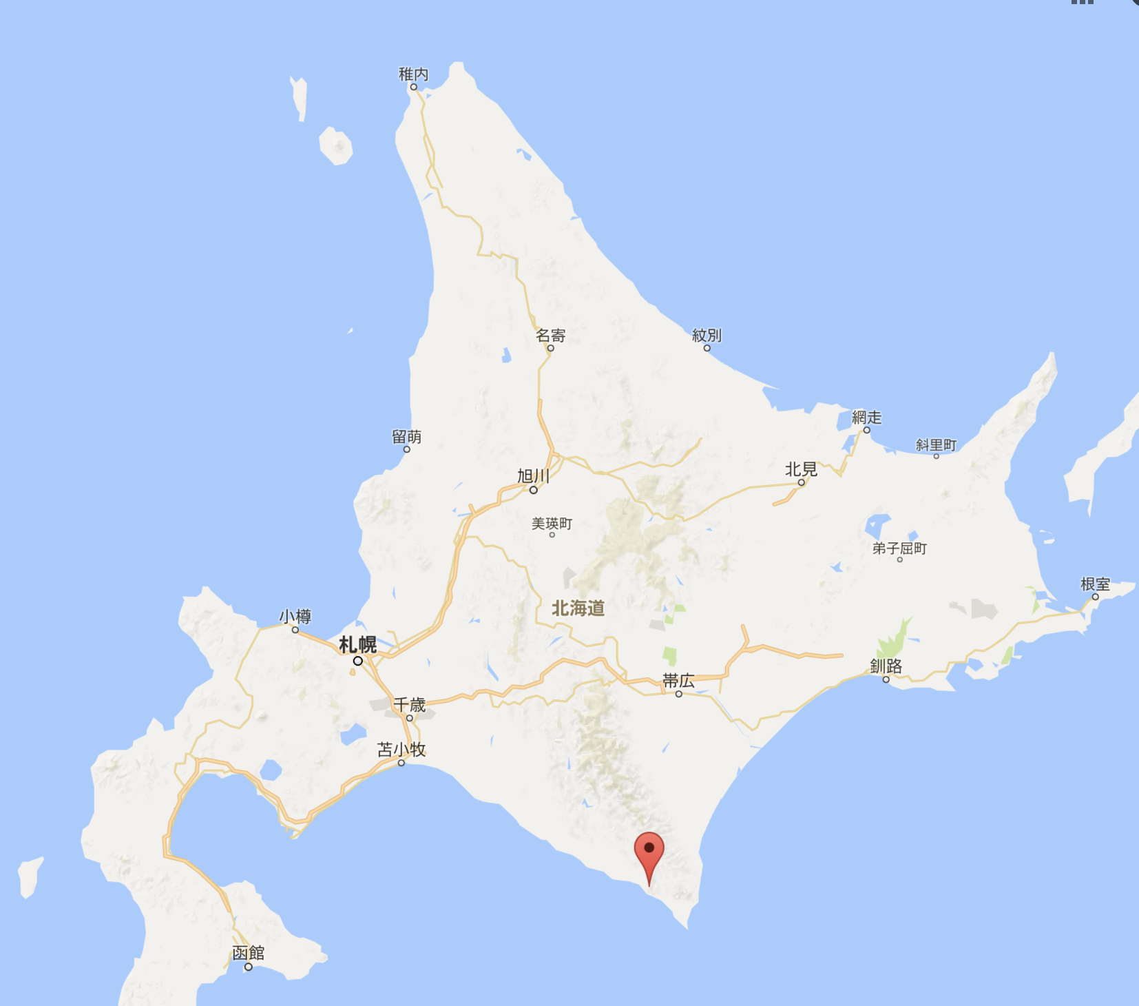 北海道のアポイ岳