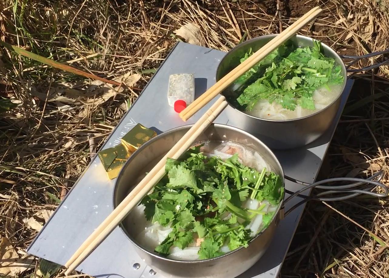 【登山のご飯 簡単で美味しいレシピ】 ベトナム料理 ライスヌードルのフォー編