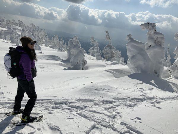 東北で冬でも登山初心者が楽しめる日本三大樹氷の一つ森吉山
